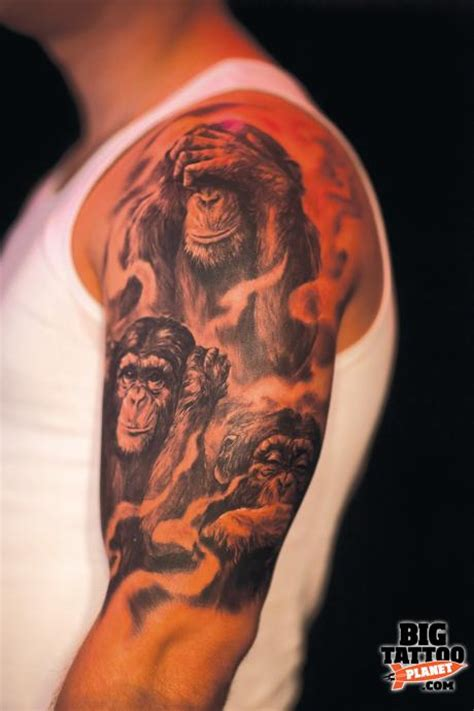 three wise monkeys tattoo designs google search