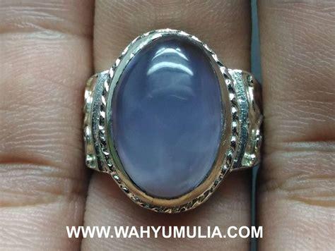 Chalcedony Serat Kura batu cincin blue chalcedony baturaja asli kode 589