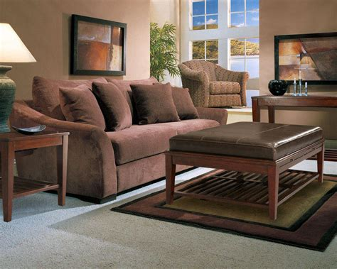 microfiber living room furniture sets microfiber sofa set classic brown two cushion seat brown