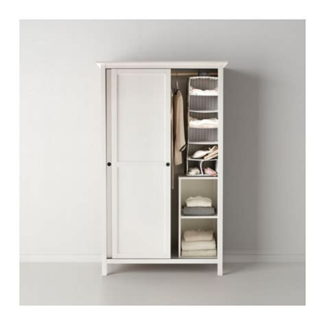 wardrobes with sliding doors ikea hemnes wardrobe with 2 sliding doors white stain 120x197
