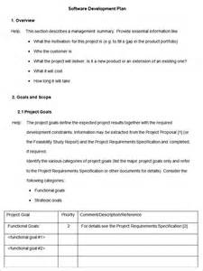 Software Plan Template by Software Development Plan Template Free Premium Templates