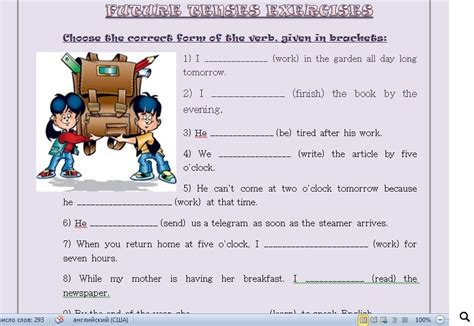 by the time future perfect english exercises practice future tenses exercises