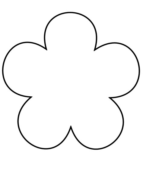 flower template  printable clipartsco
