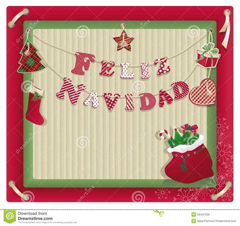 eco xmas styling card with feliz navidad royalty free stock images image 34447559