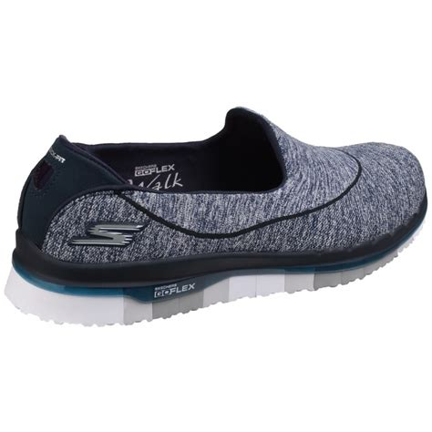 sports shoe uk skechers go flex slip on sports shoe s navy grey