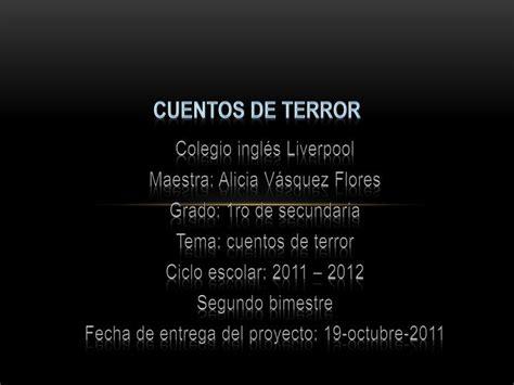cuentos de cortos de terror ppt cuentos de terror powerpoint presentation id 848495