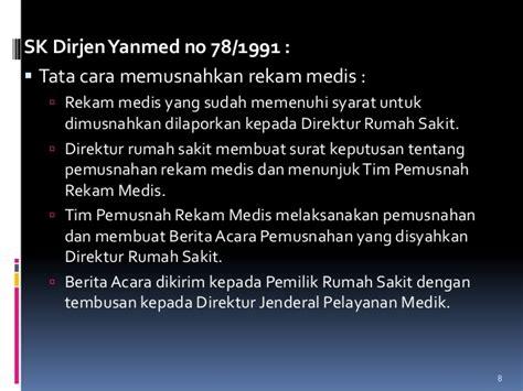 format berita acara pemusnahan rekam medis rekam medik