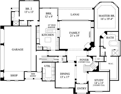 4 bedroom house plans page 288 luxury house plan 4 bedrooms 3 bath 4117 sq ft plan 62 288