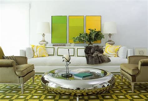 yellow and green living room getting the look for your living room