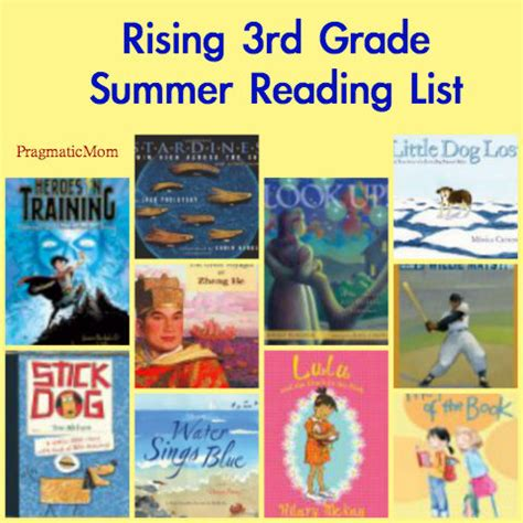 3rd grade picture books 3rd grade summer reading list pragmaticmom