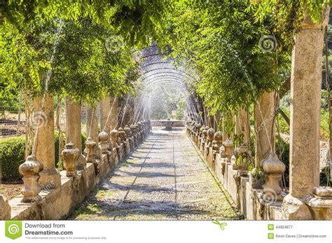 jardines de alfabia mallorca stockbild bild garten
