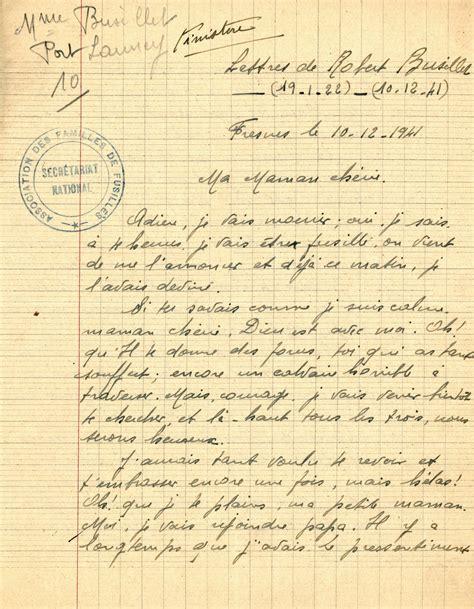 De Cachet De Lettre lettre de busillet robert le mont val 233 rien pendant la