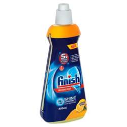 Liquid Rinse Aid Dishwasher Finish Liquid Dishwasher Rinse Aid Lemon Sparkle 400ml