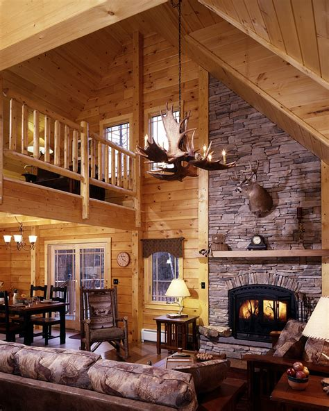 Log Homes Interiors Cabin Interior Design Ideas Studio Design Gallery Best Design