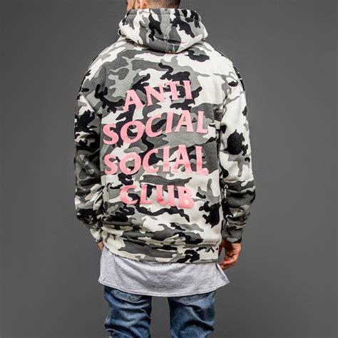 Hoodie Anti Social Social Club anti social social club not gildan camo hoodie wehustle