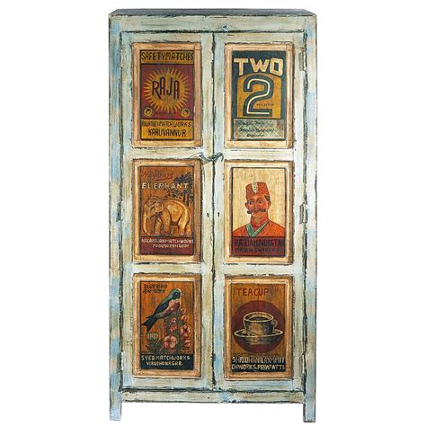 armoire bois recyclé armoire imprim 233 e en bois recycl 233 bleue effet vieilli l 86