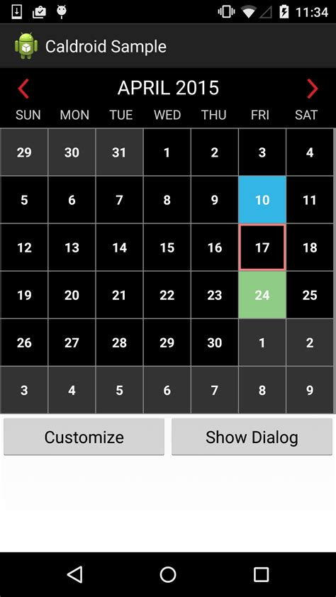 calendar layout in android github roomorama caldroid a better calendar for android