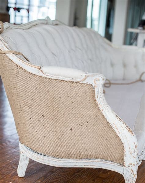 burlap couch decorating your home with burlap 32 cozy ideas shelterness