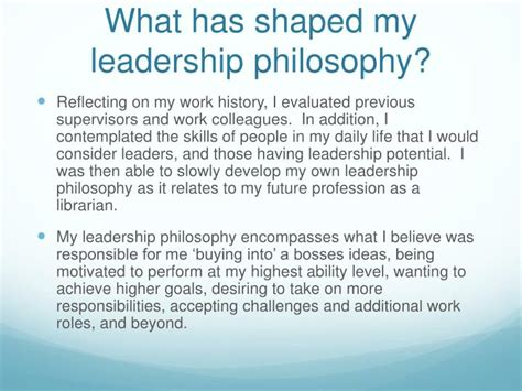 ppt my personal leadership philosophy powerpoint