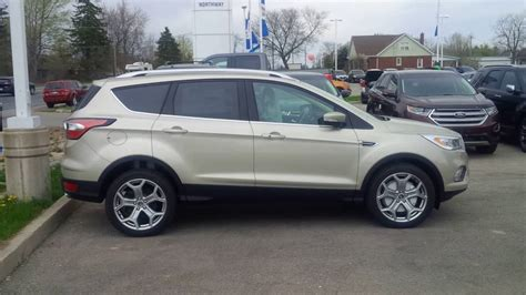 ford gold paint new colour on 2017 ford escape is white gold take a look