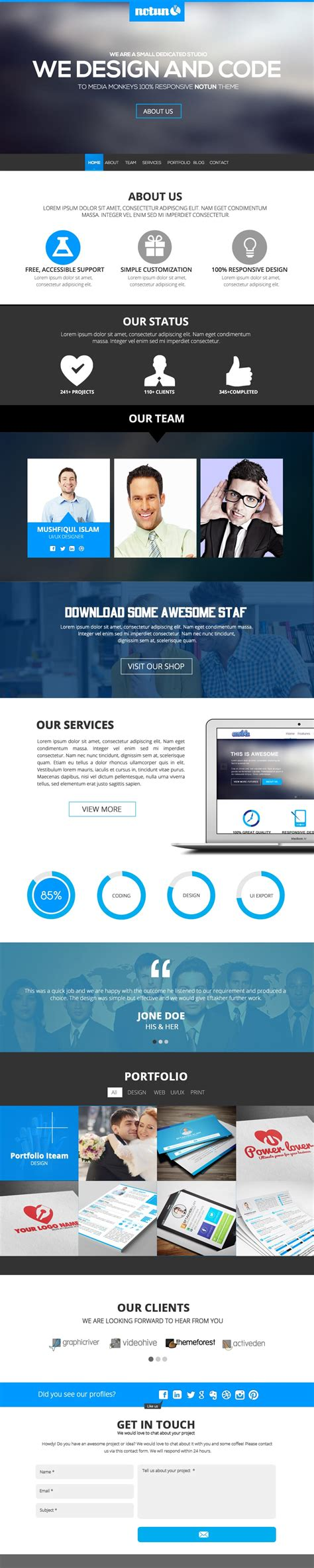 freebie halcyon days one page website template template
