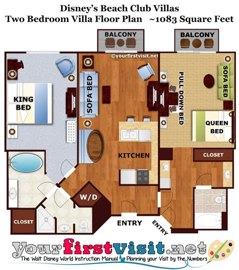 Disney Club 2 Bedroom Villa Floor Plan - review disney s club villas yourfirstvisit net