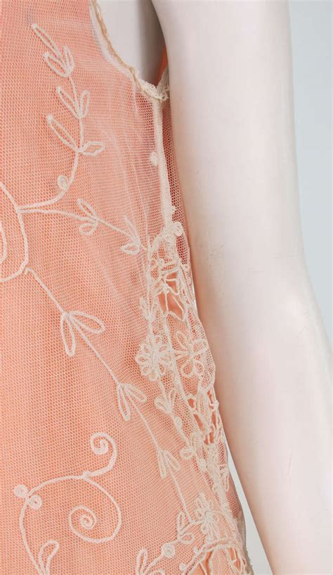 Wst 14234 Open Back Embroidered Top 1 1920s ivory embroidered tambour work dress for sale at 1stdibs