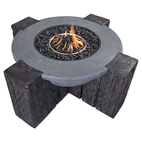 fire pit bed bath and beyond zuo 174 hades propane fire pit in grey bed bath beyond