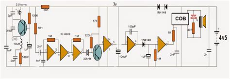 wireless inductor circuit a wireless doorbell circuit electronic circuit projects
