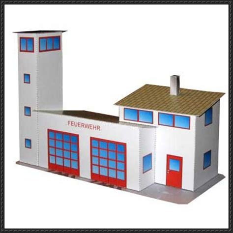 Building Papercraft - station free building paper model
