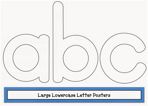 large printable lowercase alphabet letters classroom freebies large lowercase letter posters