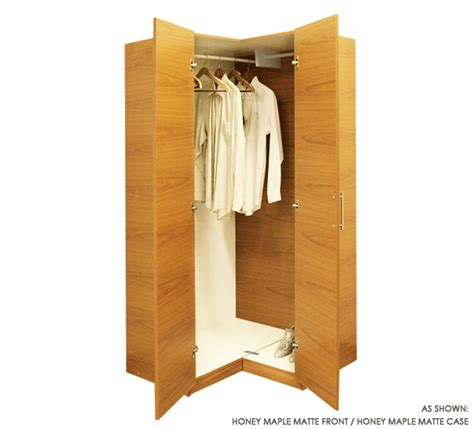 Corner Closet by Corner Wardrobe Closet W 2 Doors And 2 Hangrods Item 6616