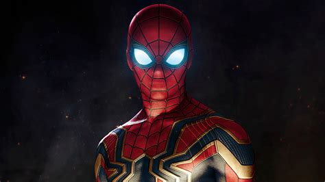 wallpaper iron spider armor spider man avengers