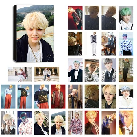 Photo Card Member Bts bts suga ver 2 lomo photocard set kpop mall usa