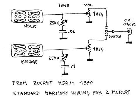 harmony standard wiring   pickups guitars