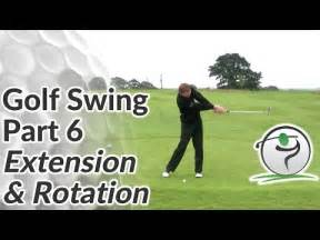 extension in the golf swing golf swing sequence part 6 extension rotation youtube