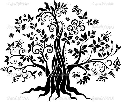 format gambar vektor vektor pohon sendia assindiya