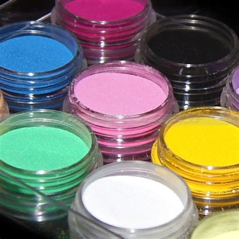 acrylic color powder 12 color acrylic powder liquid glitter nail uv gel set