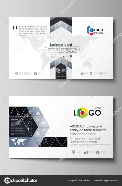 html card layout template business card templates easy editable vector layout