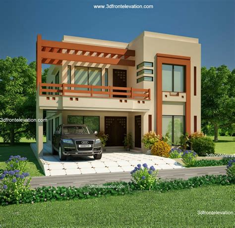 10 marla home front design 3d front elevation com 5 10 marla house plan 3d front