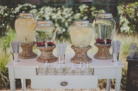 summer wedding drink station inspiration