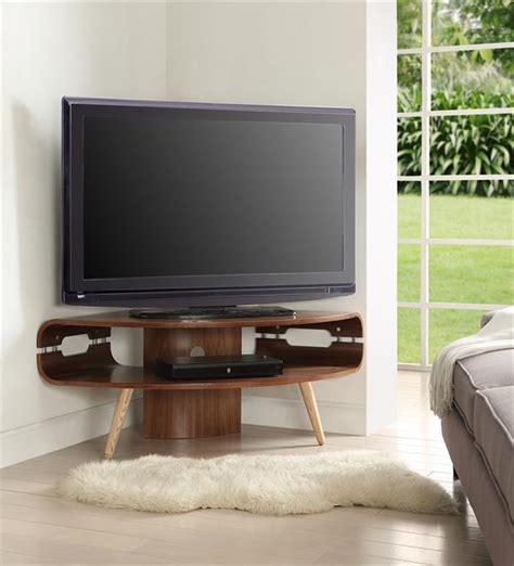 jual scandinavian corner tv unit walnut modern tv unit