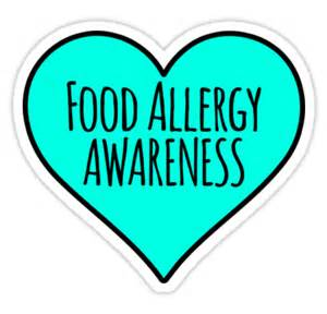 Allergy Duvet Quot Food Allergy Awareness Teal Heart Quot Stickers By Poetologie