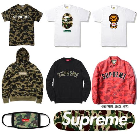 Supreme X Bape supreme bape collaboration in 2018 rumor
