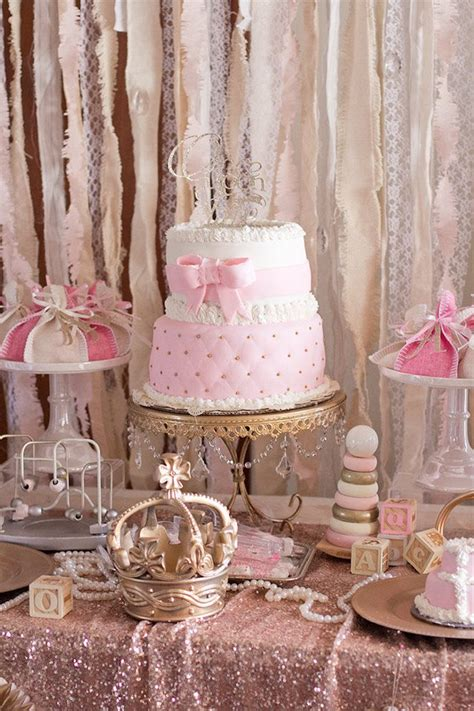 Cake Table Decorations For Baby Shower by Kara S Ideas Cake Table From An Princess