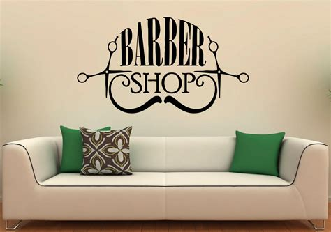 wall stickers shop barber shop wall decal vinyl stickers hairdressing salon