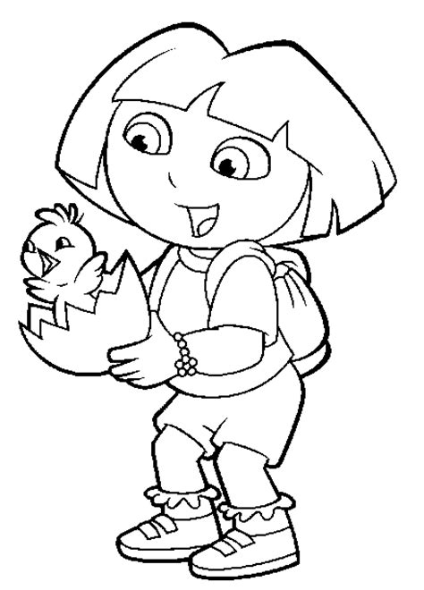 easter coloring pages dora easter colouring dora the explorer easter coloring pages