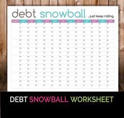 debt snowball worksheet budget printable debt snowball