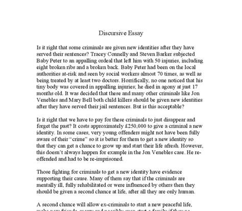 Discursive Essay Format by Discursive Essay Introduction