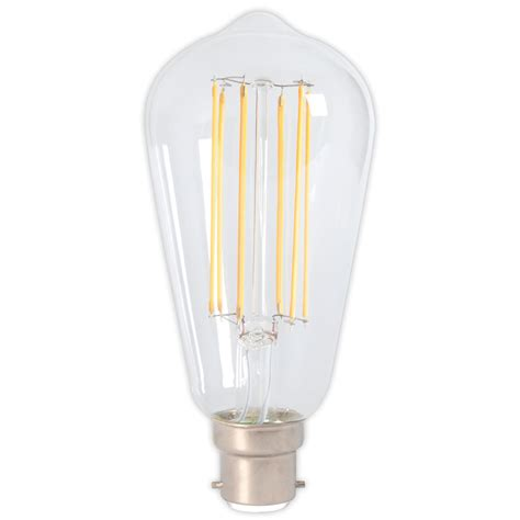 Calex Led Long Filament Squirrel Cage 4w 240v B22d Clear Calex Led Light Bulbs